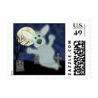Corgi Graveyard Ghost Postage Stamps