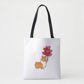 Corgi Heart Balloons Bag