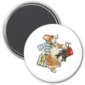 Corgi Holiday Shopper Magnet
