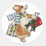Corgi Holiday Shopper Stickers