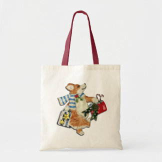 Corgi Holiday Shopper Tote Bag