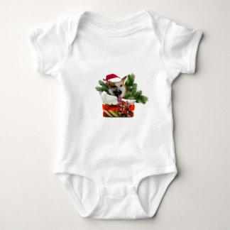 Corgi in a Christmas Box.psd Baby Bodysuit