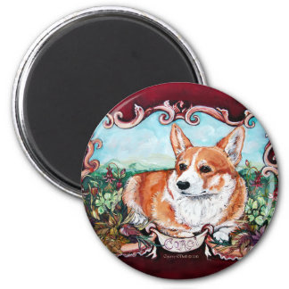 Corgi in the Garden! Magnet