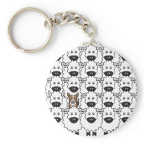 Corgi in the Sheep Keychain