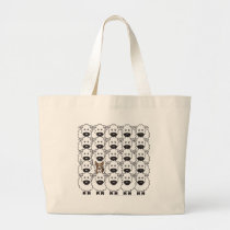 Corgi in the Sheep Large Tote Bag
