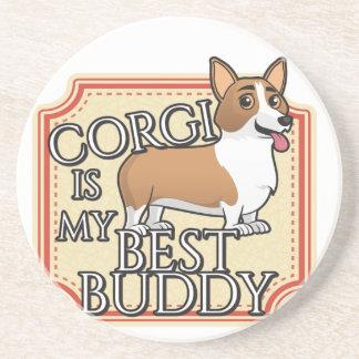 Corgi is my best buddy coaster