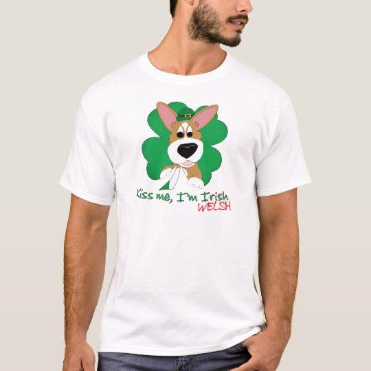 Corgi Kiss Me I'm Welsh T-Shirt