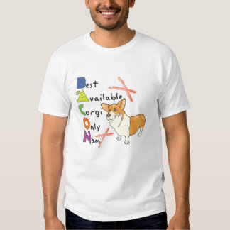 "Corgi la camiseta de los hombres de ""B.A.C.O.N ... Playeras"