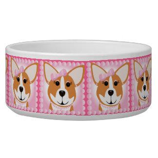 Corgi Lady Dog Bowl