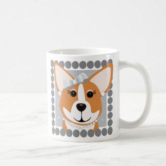 Corgi Lady Gray Coffee Mug