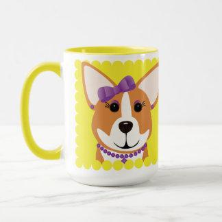 Corgi Lady Purple Mug