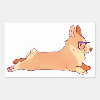 Corgi laying down sticker