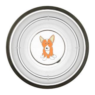 Corgi lindo del Pembroke del dibujo animado del Cuenco Acrílico