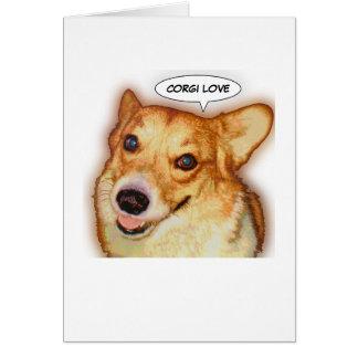 Corgi Love Card