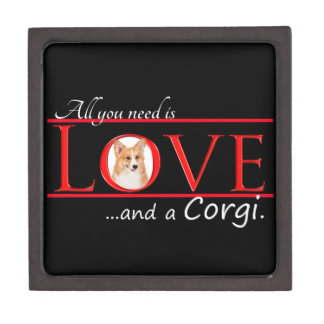 Corgi Love Wood Box