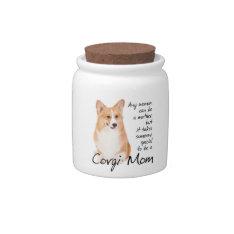 Corgi Mom Jar Candy Jars at Zazzle