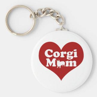 Corgi Mom Keychain