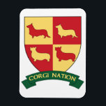"Corgi Nation Car Magnet<br><div class=""desc"">The ultimate way to show everyone that you are part of the Corgi Nation is to proudly display it on your car! Be a leader so those following will know where you belong!</div>"