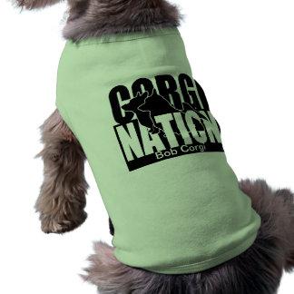Corgi Nation (Personalize) Pet Tee Shirt