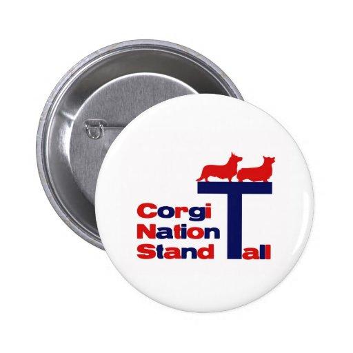 Corgi Nation Stand Tall 2 Inch Round Button