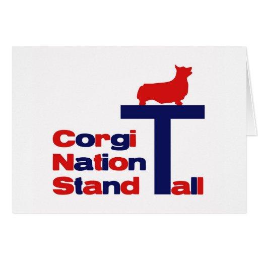 Corgi Nation Stand Tall Greeting Card