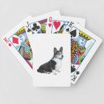 Corgi negro Galés del BI Baraja Cartas De Poker