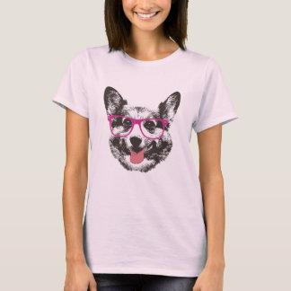 Corgi Nerdy Dog Hipster T-Shirt