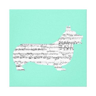 Corgi Notes Canvas Print