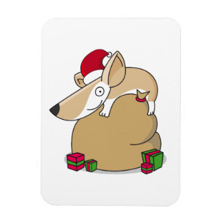 Corgi on a Christmas Sack Rectangular Photo Magnet