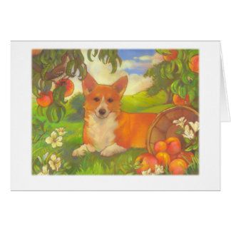 Corgi & Peaches Cards by DoubleFly Design