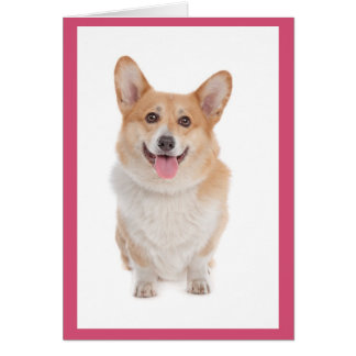 Corgi ( Pembroke ) Puppy Dog Blank Note Card