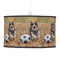 Corgi Playing Soccer Ceiling Lamps