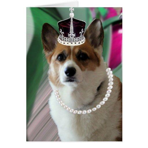corgi princess greeting card
