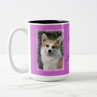 Corgi Princess Two-Tone Coffee Mug