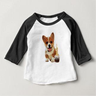 Corgi puppy and Cupcake Baby T-Shirt