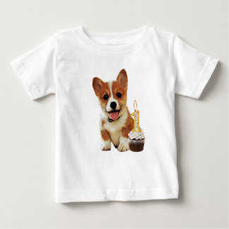 Corgi puppy and one candle shirt