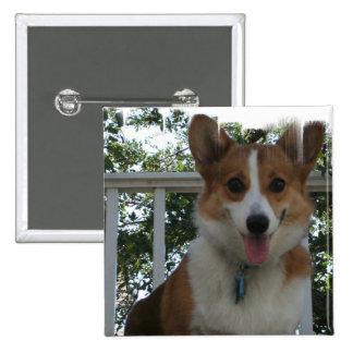 Corgi Puppy Dog Square Button