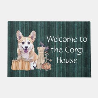 Corgi Puppy in Autumn Doormat