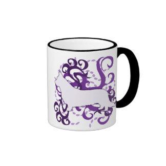 Corgi púrpura Galés de la rebeca del remolino Tazas