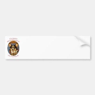 Corgi Resistance is Futile Bumper Sticker