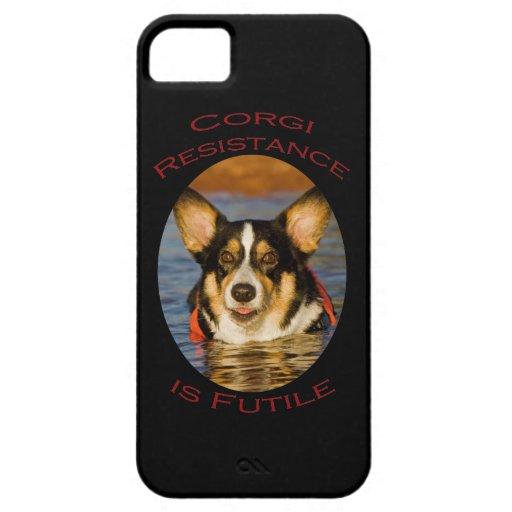 Corgi Resistance is Futile iPhone 5 Cover