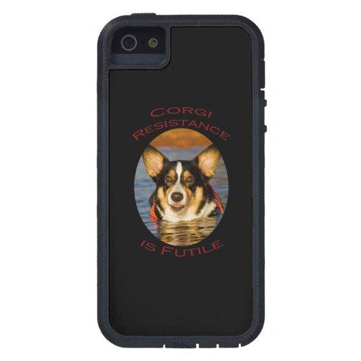 Corgi Resistance is Futile iPhone 5/5S Covers