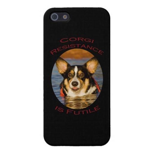 Corgi Resistance is Futile iPhone 5 Case