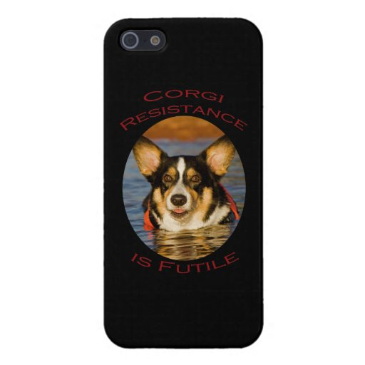 Corgi Resistance is Futile Covers For iPhone 5