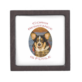 Corgi Resistance is Futile Keepsake Box