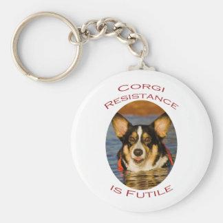 Corgi Resistance is Futile Keychain