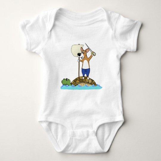 Corgi Sailing Baby Creeper