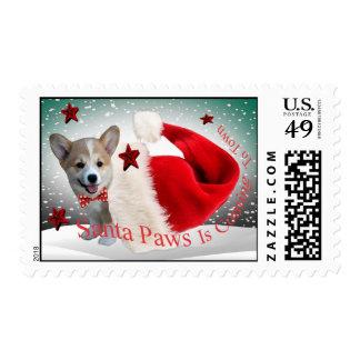 Corgi Santa Paws Christmas Postage