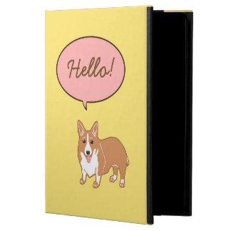 Corgi Says Hello Yellow iPad Air Case