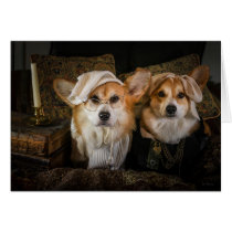 Corgi Scrooge and Jacob Marley Christmas Card